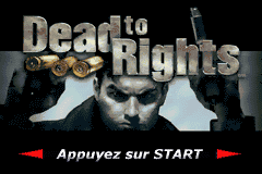 Dead to Rights (E)(Rising Sun) Title Screen
