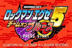 Rockman EXE 5 - Team of Blues (J)(Caravan) Title Screen