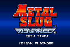 Metal Slug Advance (E)(TRSI) Title Screen