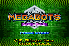 Medabots - Rokusho Version (U)(Independent) Title Screen