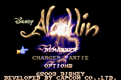 Disney's Aladdin (U)(Independent) Title Screen