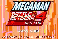 MegaMan Battle Network 4 Red Sun (E)(Independent) Title Screen