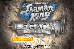 Shaman King - Legacy of the Spirits - Sprinting Wolf (U)(RisingCaravan) Title Screen