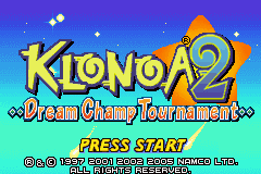 Klonoa 2 - Dream Champ Tournament (U)(Venom) Title Screen