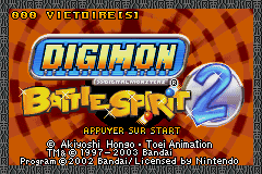 Digimon Battle Spirit 2 (E)(Independent) Title Screen