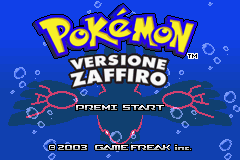 Pokemon Zaffiro (I)(Independent) Title Screen