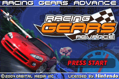 Racing Gears Advance (U)(TrashMan) Title Screen