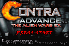 Contra Advance - The Alien Wars Ex (E)(Eternity) Title Screen