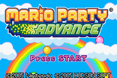 Mario Party Advance (U)(Endless Piracy) Title Screen