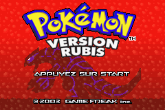 Pokemon Rubis (F)(Independent) Title Screen