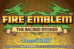 Fire Emblem - The Sacred Stones (U)(TrashMan) Title Screen
