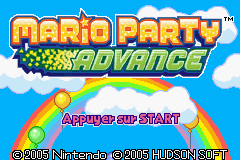 Mario Party Advance (E)(Rising Sun) Title Screen