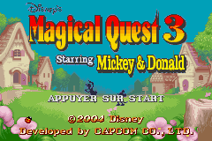 Disney's Magical Quest 3 Starring Mickey and Donald (U)(Trashman) Title Screen