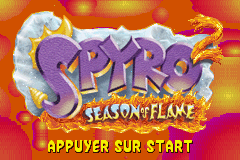 2 in 1 - Spyro 2 - Season of Flame & Crash Nitro Kart (E)(Rising Sun) Title Screen