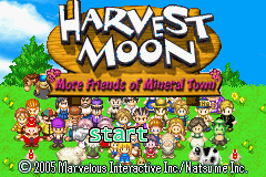 Harvest Moon - More Friends of Mineral Town (U)(Trashman) Title Screen