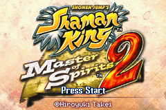 Shonen Jump's Shaman King - Master of Spirits 2 (U)(Trashman) Title Screen