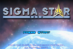 Sigma Star Saga (U)(Trashman) Title Screen