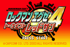 RockMan EXE 4 - Tournament Red Sun (J)(Independent) Title Screen