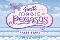 Barbie and The Magic of Pegasus (U)(R18) Title Screen