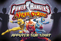 2 in 1 - Power Rangers - Ninja Storm & Power Rangers - Time Force (E)(Independent) Title Screen