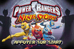 2 in 1 - Power Rangers - Ninja Storm & Power Rangers - Time Force (U)(Trashman) Title Screen