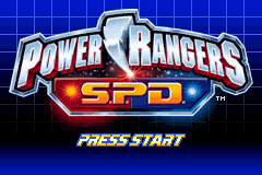 Power Rangers - SPD (U)(Trashman) Title Screen