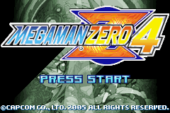 MegaMan Zero 4 (U)(Trashman) Title Screen