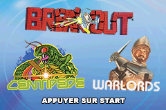 Centipede, Breakout, Warlords (E)(Supplex) Title Screen