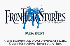 Frontier Stories (J)(WRG) Title Screen