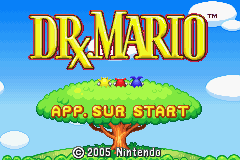 Dr. Mario & Puzzle League (E)(Rising Sun) Title Screen