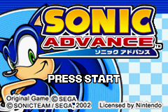 2 in 1 - Sonic Advance & Sonic Pinball Party (E)(Rising Sun) Title Screen
