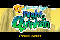 Ty the Tasmanian Tiger 3 - Night of the Quinkan (U)(Trashman) Title Screen