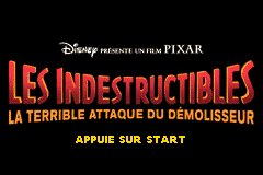The Incredibles - Rise of the Underminer (E)(Rising Sun) Title Screen