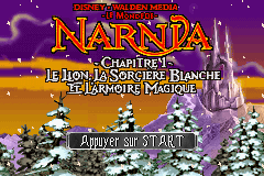 The Chronicles of Narnia - The Lion, The Witch and The Wardrobe (U)(Rising Sun) Title Screen