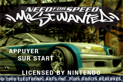 Need for Speed Most Wanted (U)(Rising Sun) Title Screen