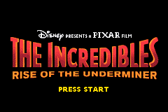 The Incredibles - Rise of the Underminer (U)(Trashman) Title Screen