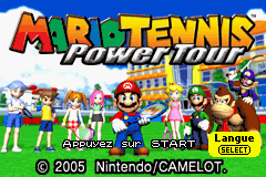 Mario Tennis - Power Tour (U)(Independent) Title Screen