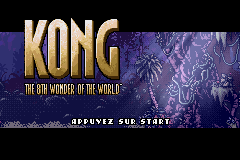 Kong - The 8th Wonder of the World (U)(Trashman) Title Screen