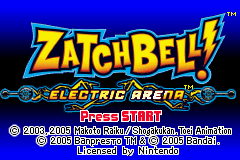 ZatchBell! - Electric Arena (U)(Trashman) Title Screen