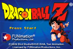 2 in 1 - Dragon Ball Z - The Legacy of Goku I & II (U)(Rising Sun) Title Screen