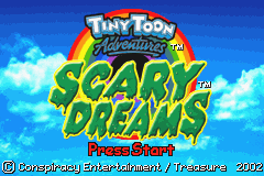 Tiny Toon Adventures - Scary Dreams (U)(Trashman) Title Screen