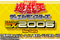 Yu-Gi-Oh Duel Monsters Expert 2006 (J)(WRG) Title Screen