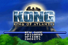 Kong - King of Atlantis (E)(Independent) Title Screen