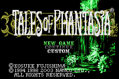 Tales of Phantasia (U)(Independent) Title Screen