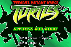 2 in 1 - Teenage Mutant Ninja Turtles Double Pack (E)(sUppLeX) Title Screen