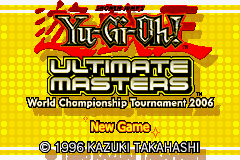 Yu-Gi-Oh! Ultimate Masters 2006 (U)(Trashman) Title Screen