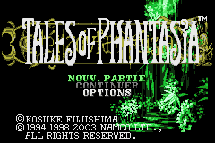 Tales of Phantasia (E)(WRG) Title Screen