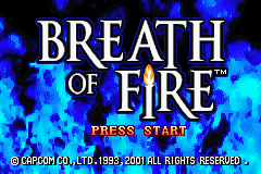 Breath of Fire (E)(Independent) Title Screen