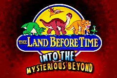 The Land Before Time - Into the Mysterious Beyond (U)(Trashman) Title Screen