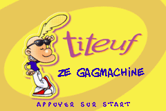 2 in 1 - Titeuf Ze Gagmachine & Titeuf Mega Compet (F)(Eternity) Title Screen